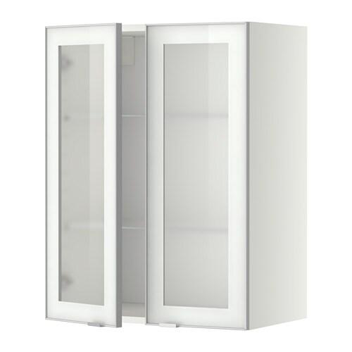 metod wandschrank mit b den 2 glast ren jutis frostglas aluminium 60x80 cm ikea. Black Bedroom Furniture Sets. Home Design Ideas