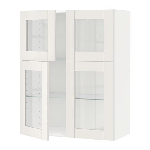 metod wandschrank mit b den 4 glast ren s vedal wei ikea. Black Bedroom Furniture Sets. Home Design Ideas