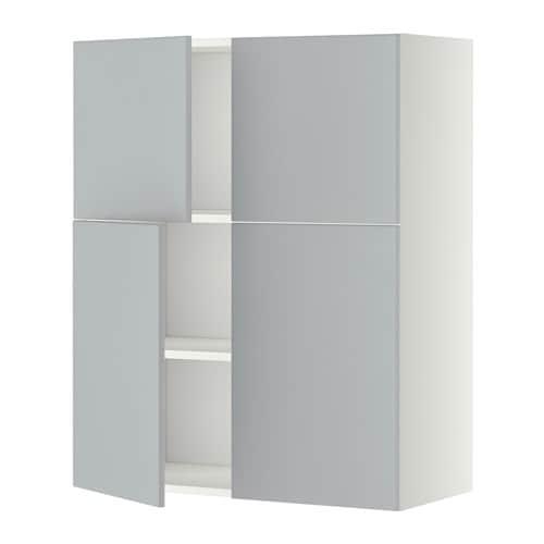 metod wandschrank mit b den 4 t ren wei veddinge grau ikea. Black Bedroom Furniture Sets. Home Design Ideas