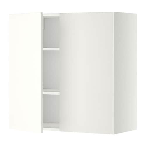 metod wandschrank mit b den und 2 t ren h ggeby wei 80x80 cm ikea. Black Bedroom Furniture Sets. Home Design Ideas