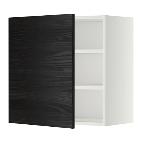 metod wandschrank mit b den wei tingsryd holzeffekt schwarz 60x60 cm ikea. Black Bedroom Furniture Sets. Home Design Ideas