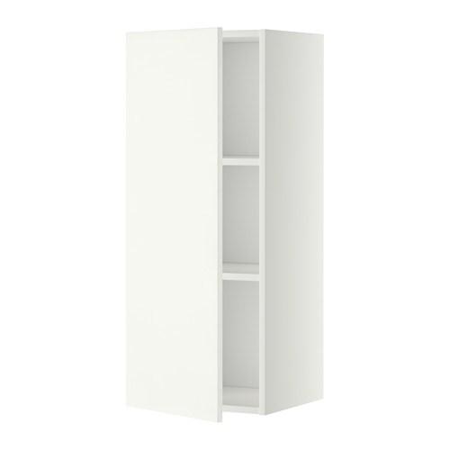 metod wandschrank mit b den h ggeby wei 40x100 cm ikea. Black Bedroom Furniture Sets. Home Design Ideas