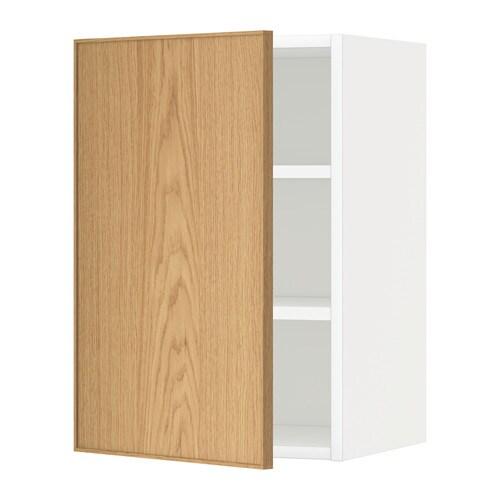 metod wandschrank mit b den ekestad eiche 40x60 cm ikea. Black Bedroom Furniture Sets. Home Design Ideas