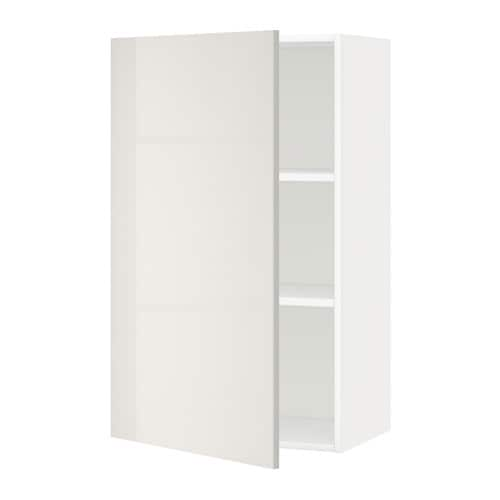 metod wandschrank mit b den ringhult hochglanz hellgrau 60x100 cm ikea. Black Bedroom Furniture Sets. Home Design Ideas
