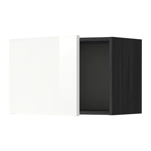metod wandschrank holzeffekt schwarz ringhult hochglanz wei 60x40 cm ikea. Black Bedroom Furniture Sets. Home Design Ideas