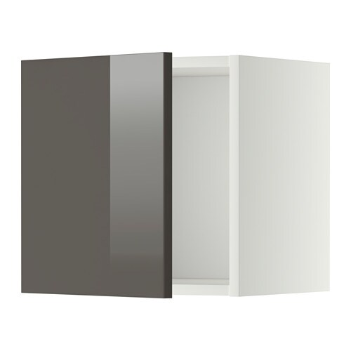 METOD Wandschrank - weiß, Ringhult Hochglanz grau, 40x40 cm - IKEA