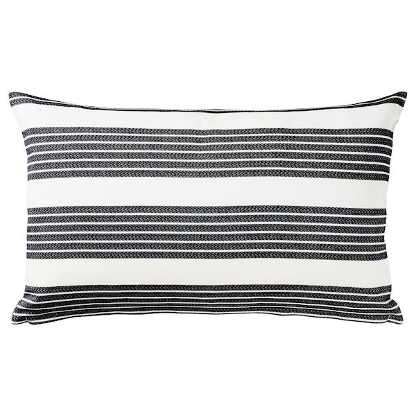 METTALISE Kissenbezug weiß/dunkelgrau 40 cm 65 cm