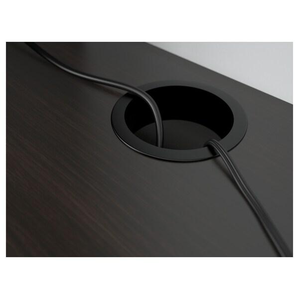 MICKE Schreibtisch, schwarzbraun, 105x50 cm
