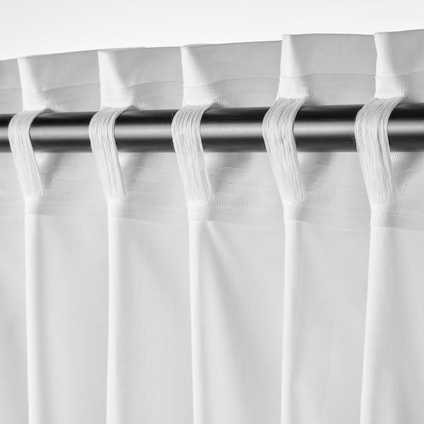 MOALISA 2 Gardinenschals, weiß/schwarz, 145x300 cm