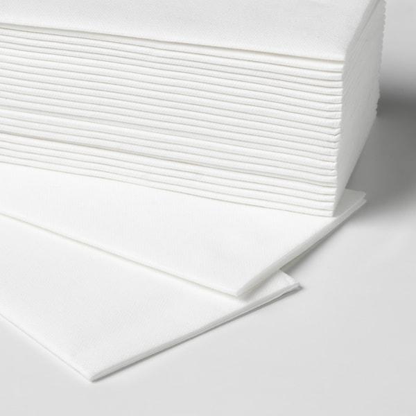 MOTTAGA Papierserviette, weiß, 38x38 cm