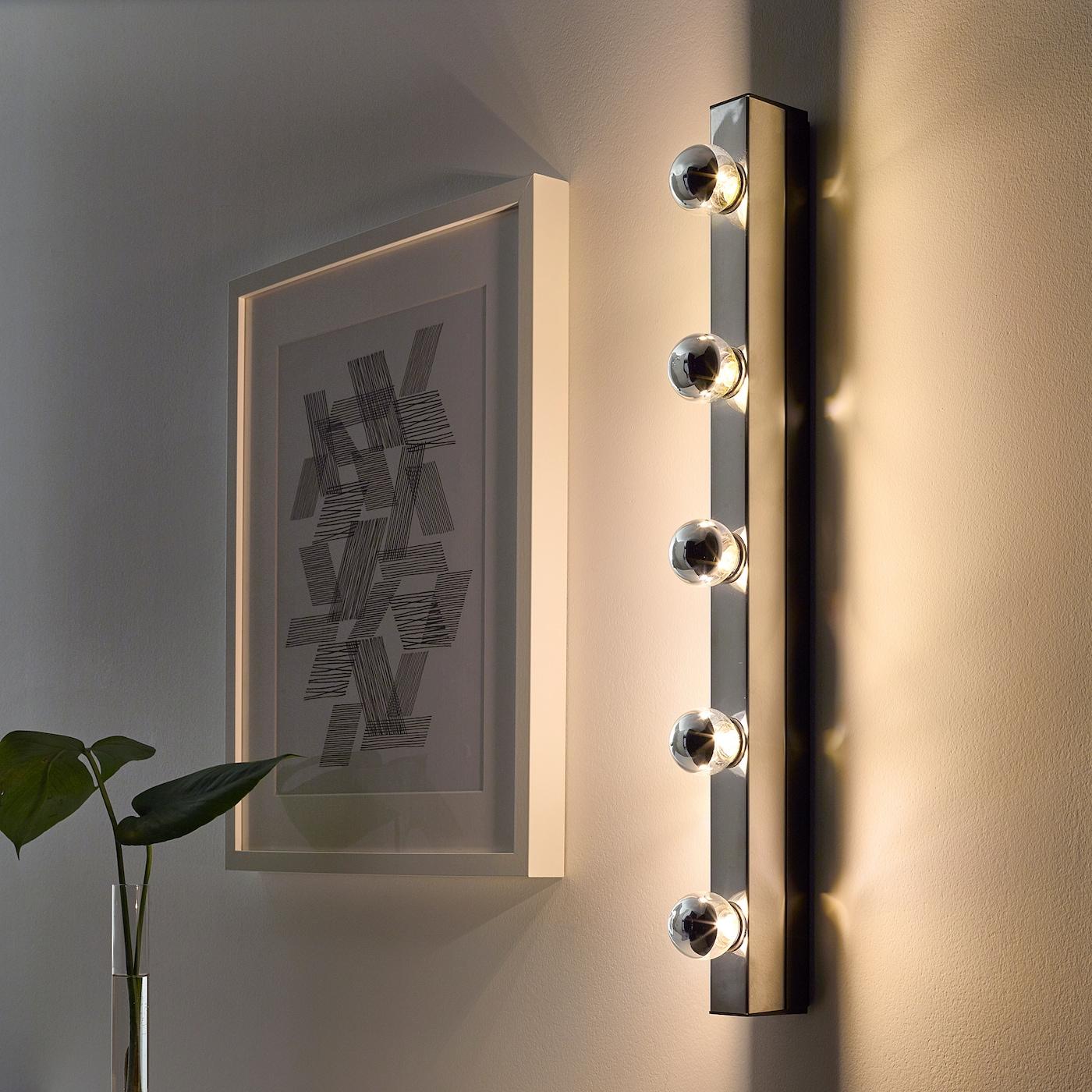 9 W LED Chrom Wand Leuchte Glas Spiegel Rand Beleuchtung