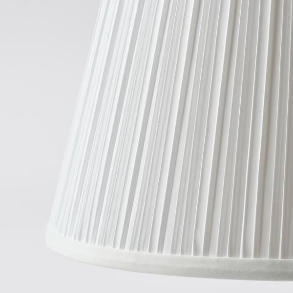 MYRHULT / KRYSSMAST Tischleuchte, weiß/vermessingt