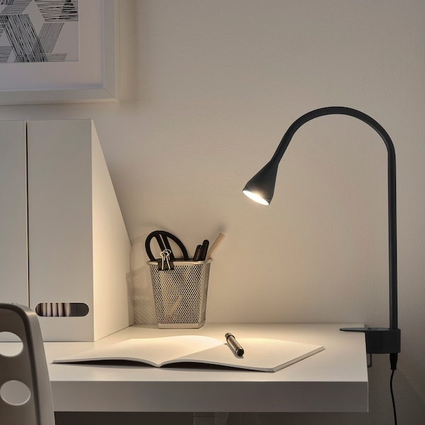 NÄVLINGE Wand-/Klemmspot, LED, schwarz