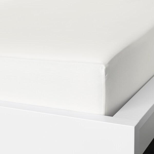 NATTJASMIN Spannbettlaken, weiß, 180x200 cm