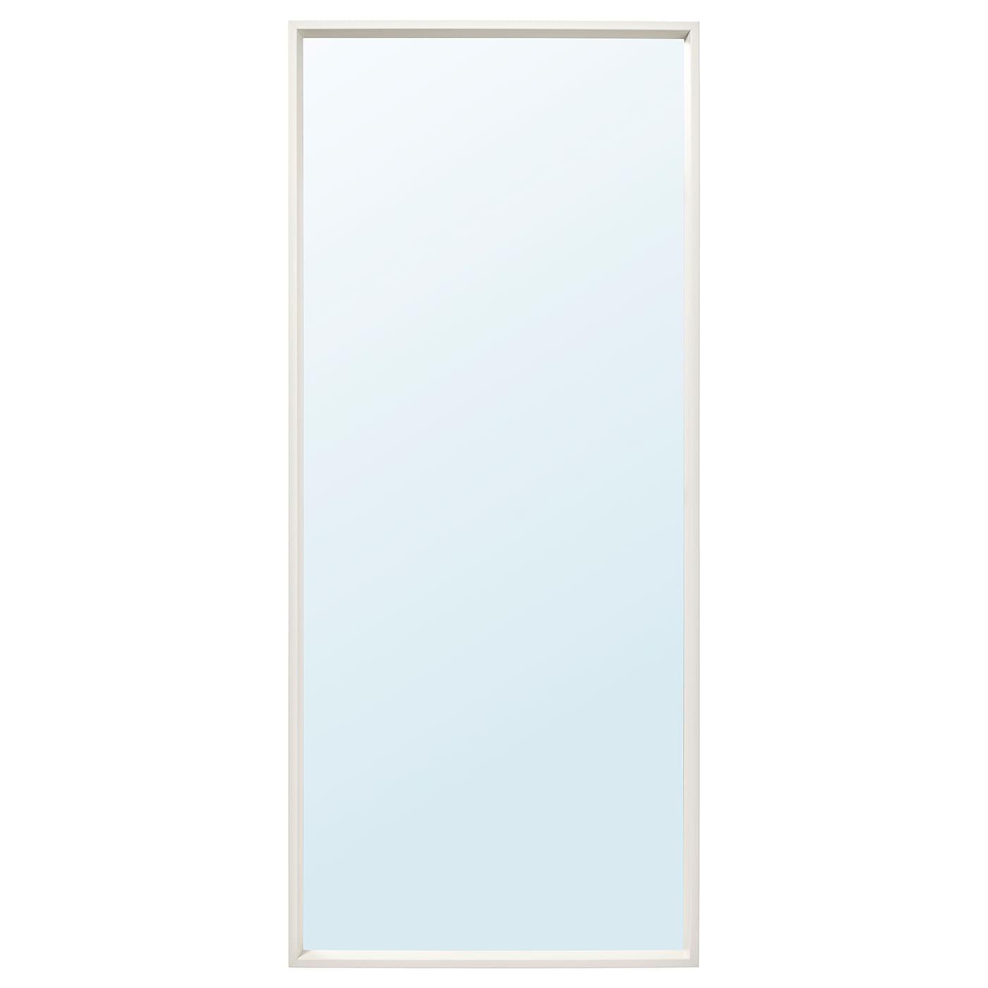 NISSEDAL Spiegel - weiß 8x8 cm