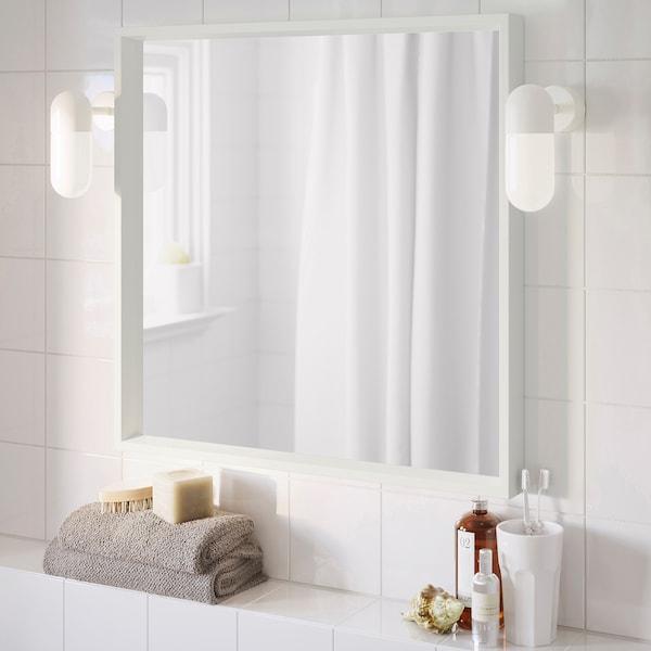 NISSEDAL Spiegel, weiß, 65x65 cm