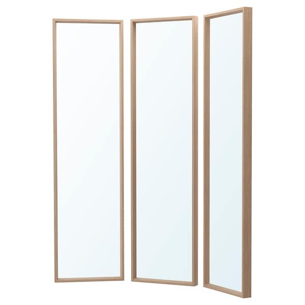 NISSEDAL Spiegelkombination, Eicheneff wlas, 130x150 cm