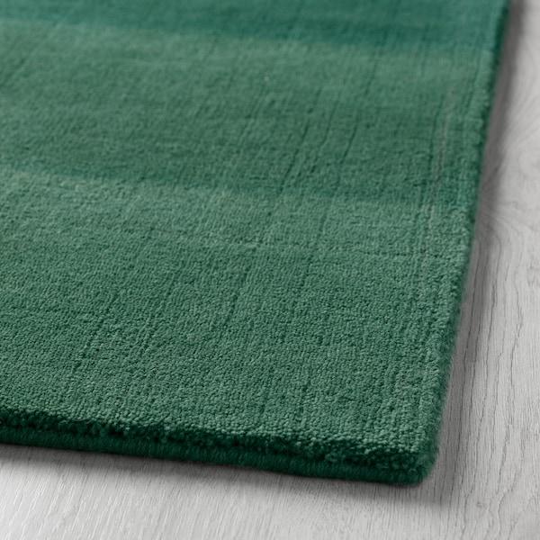 NÖDEBO Teppich Kurzflor, Handarbeit/grün, 170x240 cm