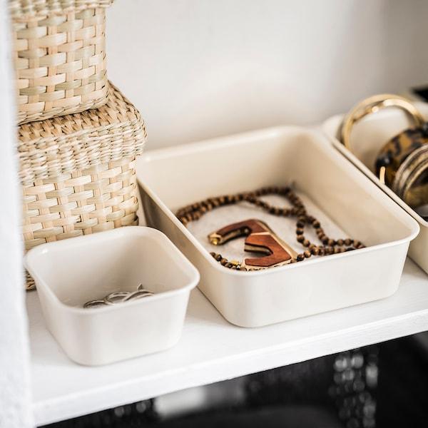 NOJIG Sortierbox, Kunststoff/beige, 10x10x5 cm
