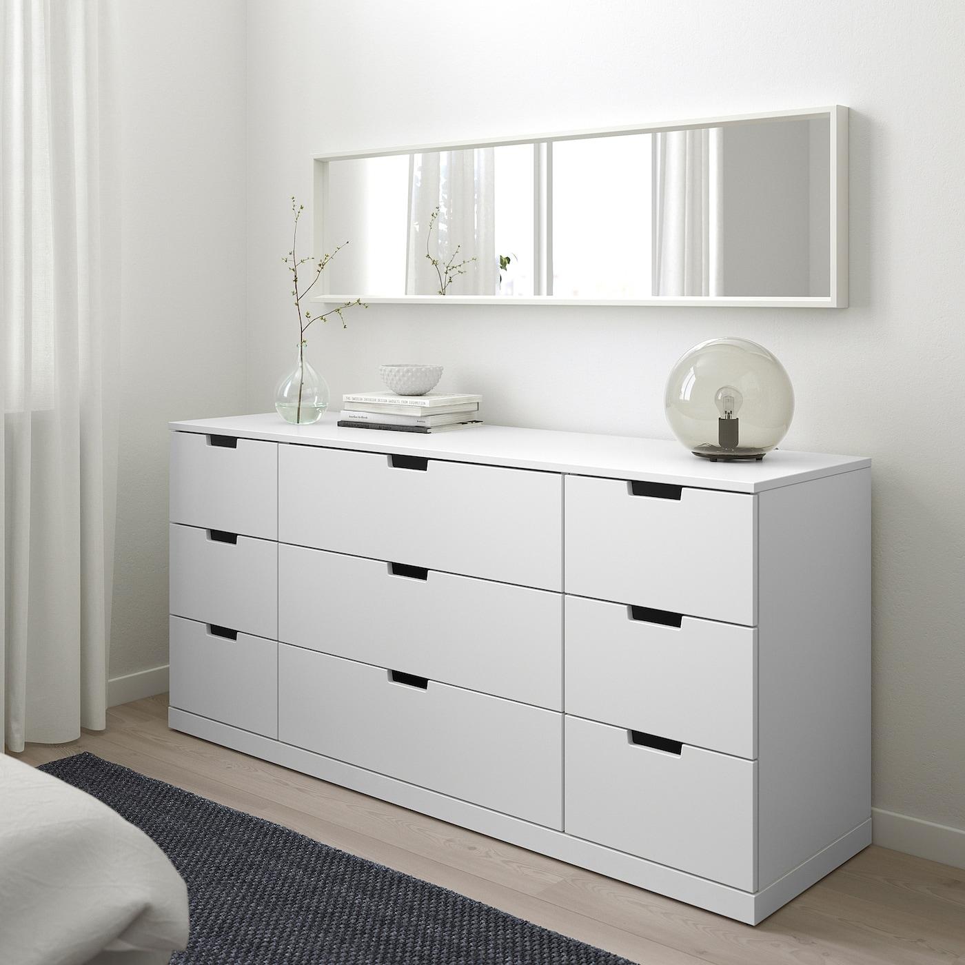 NORDLI Kommode mit 9 Schubladen - weiß - IKEA Österreich