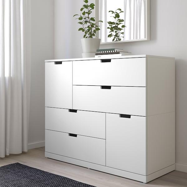 NORDLI Kommode mit 6 Schubladen, weiß, 120x99 cm