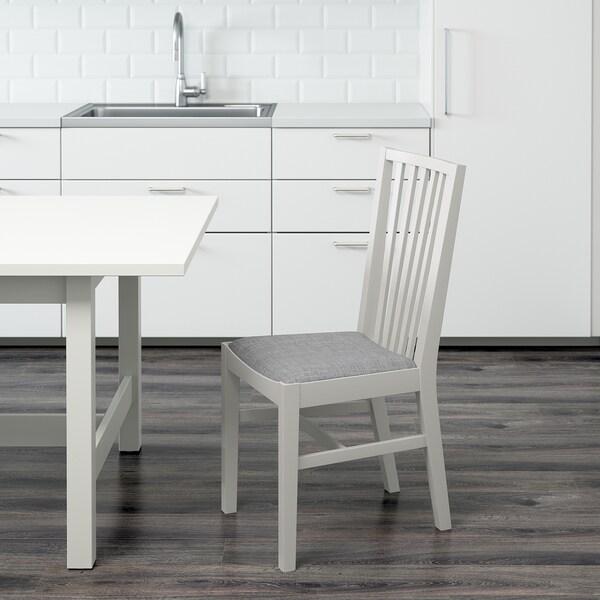 NORRNÄS Stuhl Weiß Isunda Grau IKEA Österreich