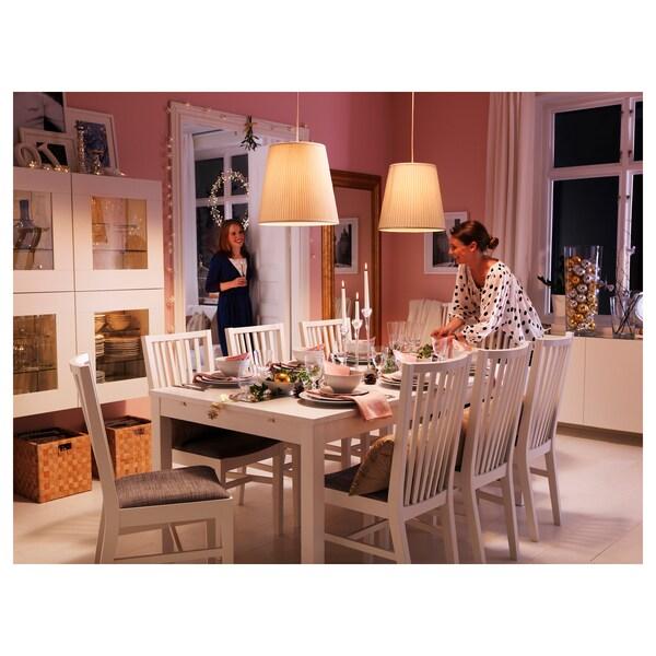 NORRNÄS Stuhl Weiß Isunda Grau IKEA