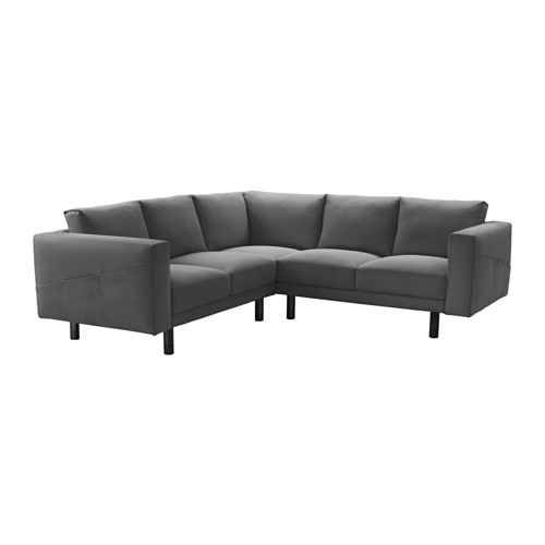 norsborg ecksofa 2 2 finnsta dunkelgrau grau ikea. Black Bedroom Furniture Sets. Home Design Ideas