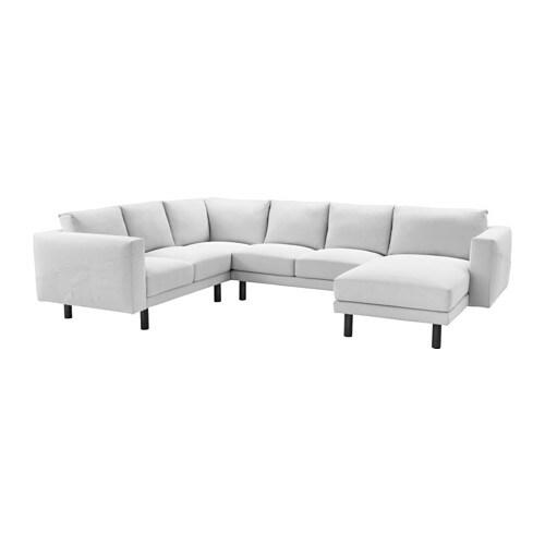 Ecksofa ikea grau  NORSBORG Ecksofa 2+2 mit Récamiere - Finnsta weiß, grau - IKEA