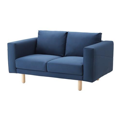 norsborg 2er sofa edum dunkelblau birke ikea. Black Bedroom Furniture Sets. Home Design Ideas