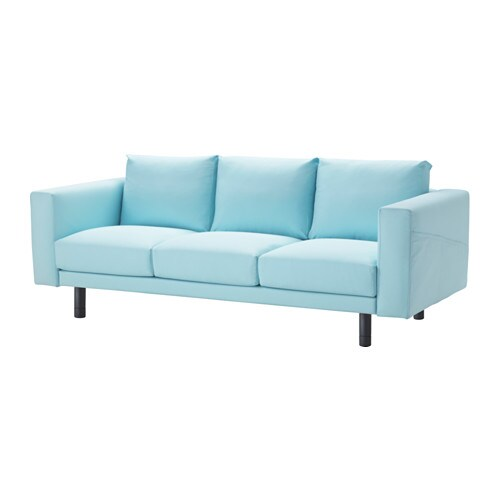 norsborg 3er sofa edum hellblau grau ikea. Black Bedroom Furniture Sets. Home Design Ideas