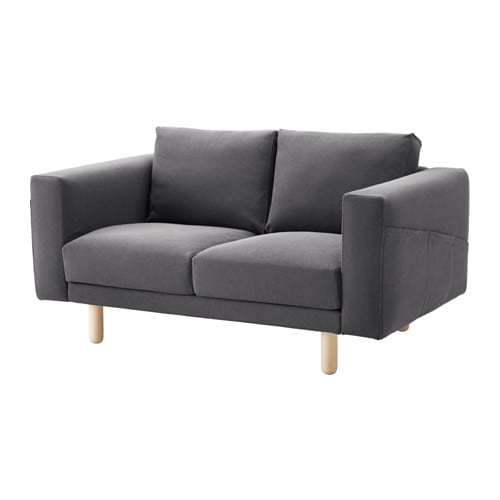norsborg 2er sofa finnsta dunkelgrau birke ikea. Black Bedroom Furniture Sets. Home Design Ideas