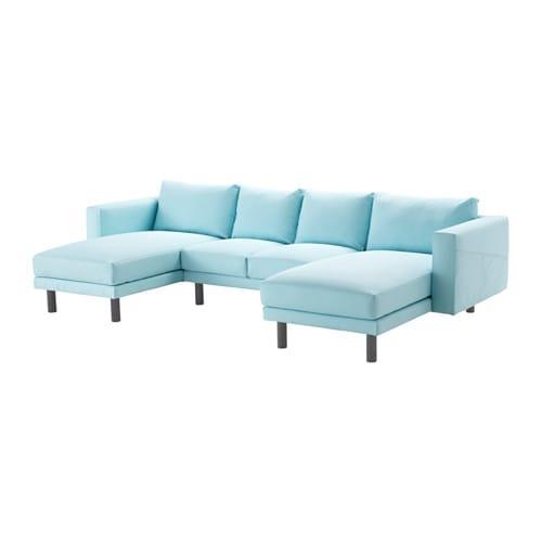 Norsborg 2er sofa mit 2 r camieren edum hellblau grau for Ecksofa hellblau
