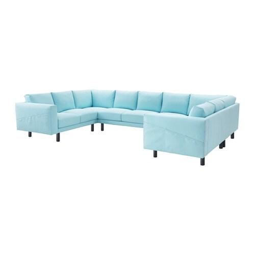 Norsborg 9er sofa u form edum hellblau grau ikea for Couch grau u form