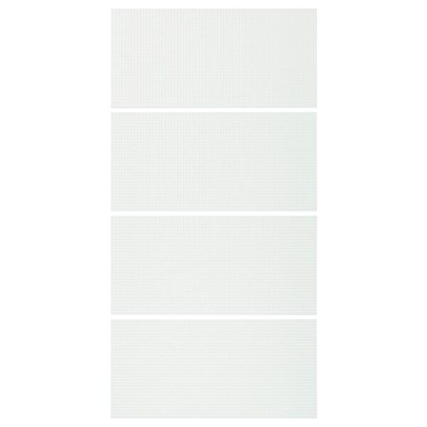 NYKIRKE 4 Paneele f Schiebetürrahmen, Frostglas kariert, 100x201 cm