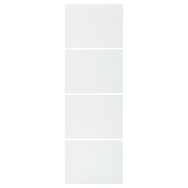 NYKIRKE 4 Paneele f Schiebetürrahmen, Frostglas kariert, 75x236 cm