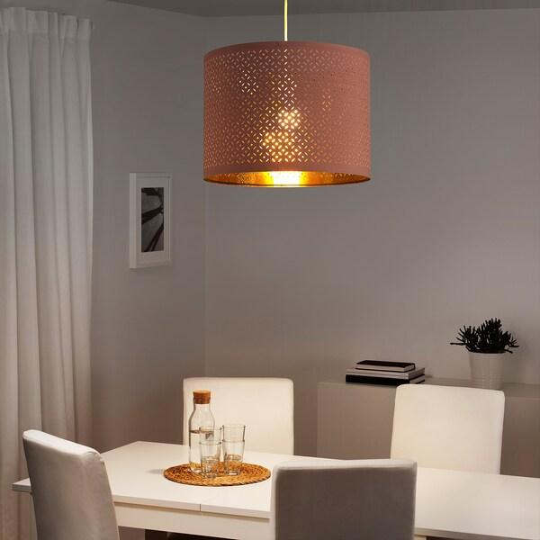 NYMÖ Leuchtenschirm rosa/messingfarben 33 cm 44 cm