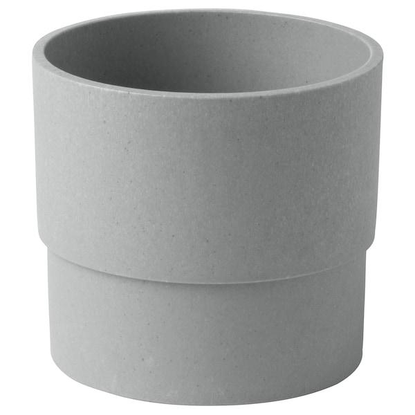 NYPON Übertopf, drinnen/draußen grau, 9 cm