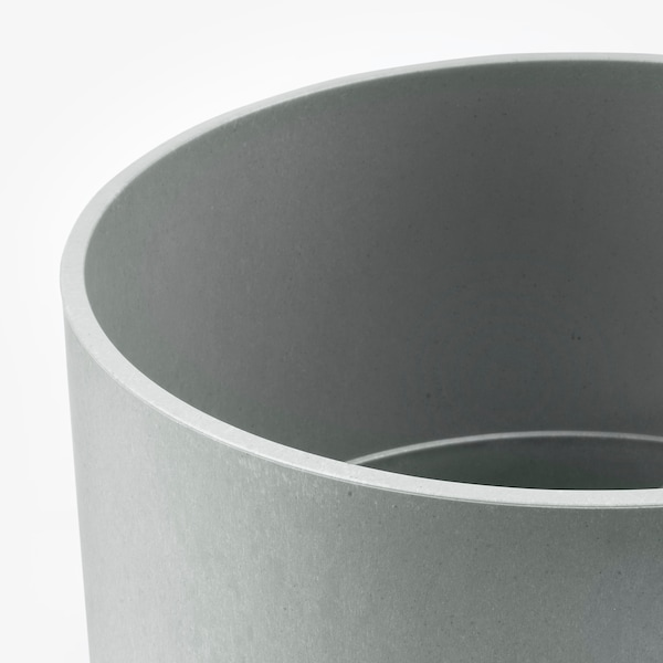 NYPON Übertopf, drinnen/draußen grau, 32 cm