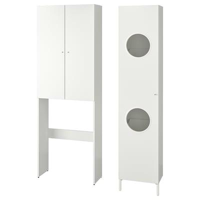 NYSJÖN Aufbewkombi für Wäsche, weiß, 105x32x190 cm