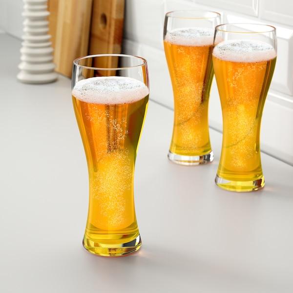 OANVÄND Bierglas, Klarglas, 63 cl