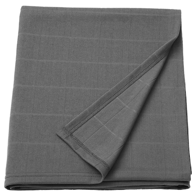 ODDHILD Plaid, dunkelgrau, 120x170 cm
