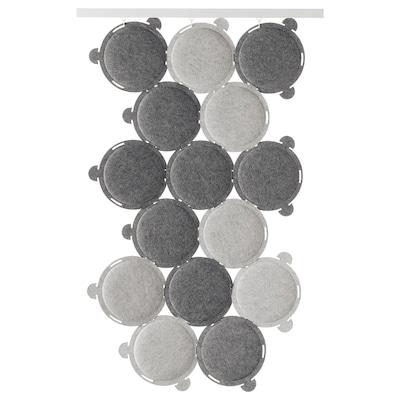 ODDLAUG Schiebegardine, geräuschdämmend grau 100 cm 50 cm 17 cm 1.5 cm 0.60 kg 15 Stück