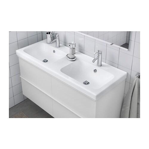 Doppelwaschbecken mit unterschrank ikea  ODENSVIK Waschbecken/2 - 120x49x6 cm - IKEA