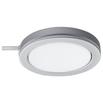 OMLOPP Spot, LED aluminiumfarben 65 lm 1 cm 6.8 cm 3.5 m 1.4 W