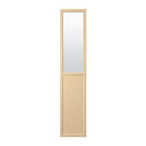oxberg paneel vitrinent r birkenfurnier ikea. Black Bedroom Furniture Sets. Home Design Ideas