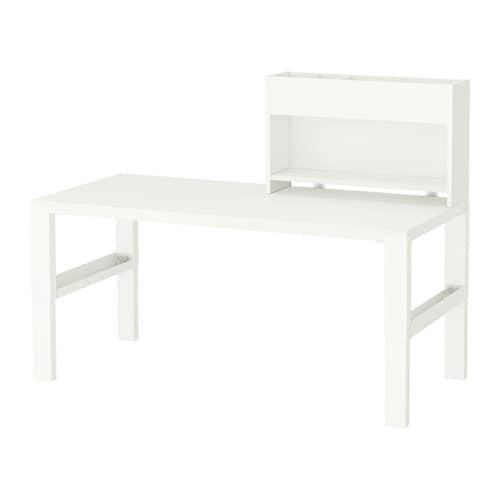 p hl schreibtisch mit aufsatz wei ikea. Black Bedroom Furniture Sets. Home Design Ideas