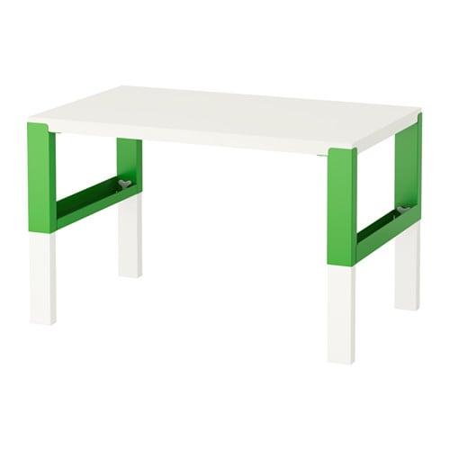 PÅHL Schreibtisch, weiß, grün