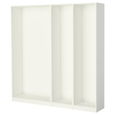 PAX 3x Korpus Kleiderschrank, weiß, 200x35x201 cm