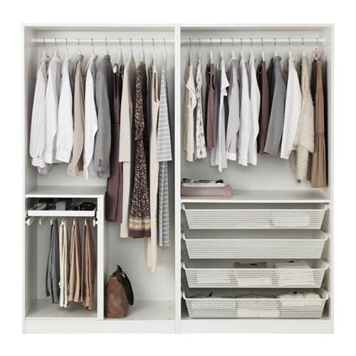PAX Kleiderschrank 200x60x236 Cm Scharnier Sanft Schließend IKEA